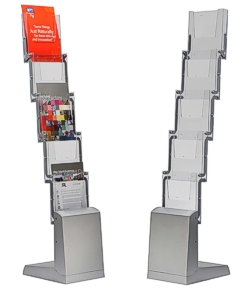 Folding exhibition leaflet stand