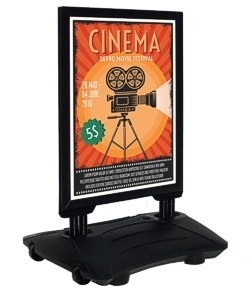 Waterbased sign with black frame