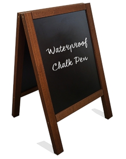 Heavy duty blackboard A-board