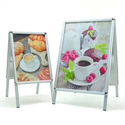 Pavement A-boards with A2 and A1 size frames